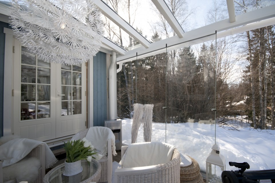 Image result for glass balcony snow